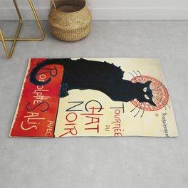 Vintage french poster - Tournée du chat noir - Steinlen Rug