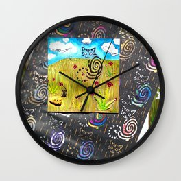 Cat and the Mouse Wall Clock