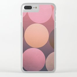Pink Shadows Moon Clear iPhone Case