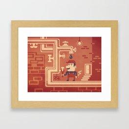Mario at work Framed Art Print