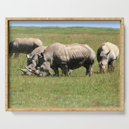 Group Of White Rhino Serving Tray