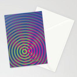 SoundWaves Lime/Magenta Stationery Cards