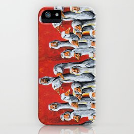 A Giggle Gaggle of Geese iPhone Case