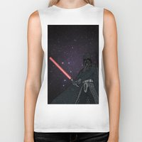 darth vader Biker Tanks featuring Darth Vader  by Rebecca Bear