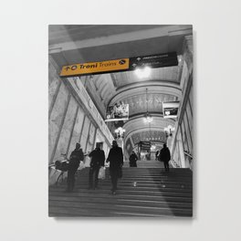 Milano Station Black and White Photography Metal Print