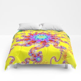 Tropical Octopus Fractal Comforters