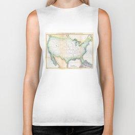 Vintage United States Magnetic Declination Map Biker Tank