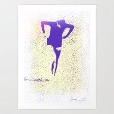 Woman Emerging (k) Art Print