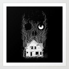 Horror house Art Print