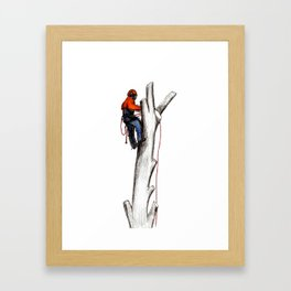 Arborist Tree Surgeon gift or present Framed Art Print