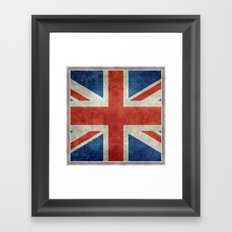 Square Union Jack retro style, made for the Pillows, Duvets and Shower curtains Framed Art Print