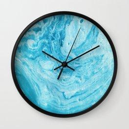 BLUE SWIRL Wall Clock