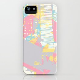 Futuristic Pastel Cityscape iPhone Case
