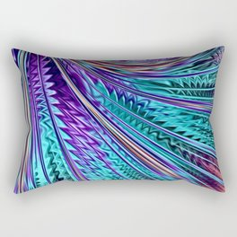 Jewel Rainbow Fractal Art Rectangular Pillow