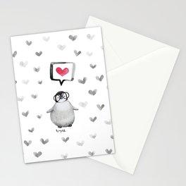 Tiny penguin love Stationery Cards