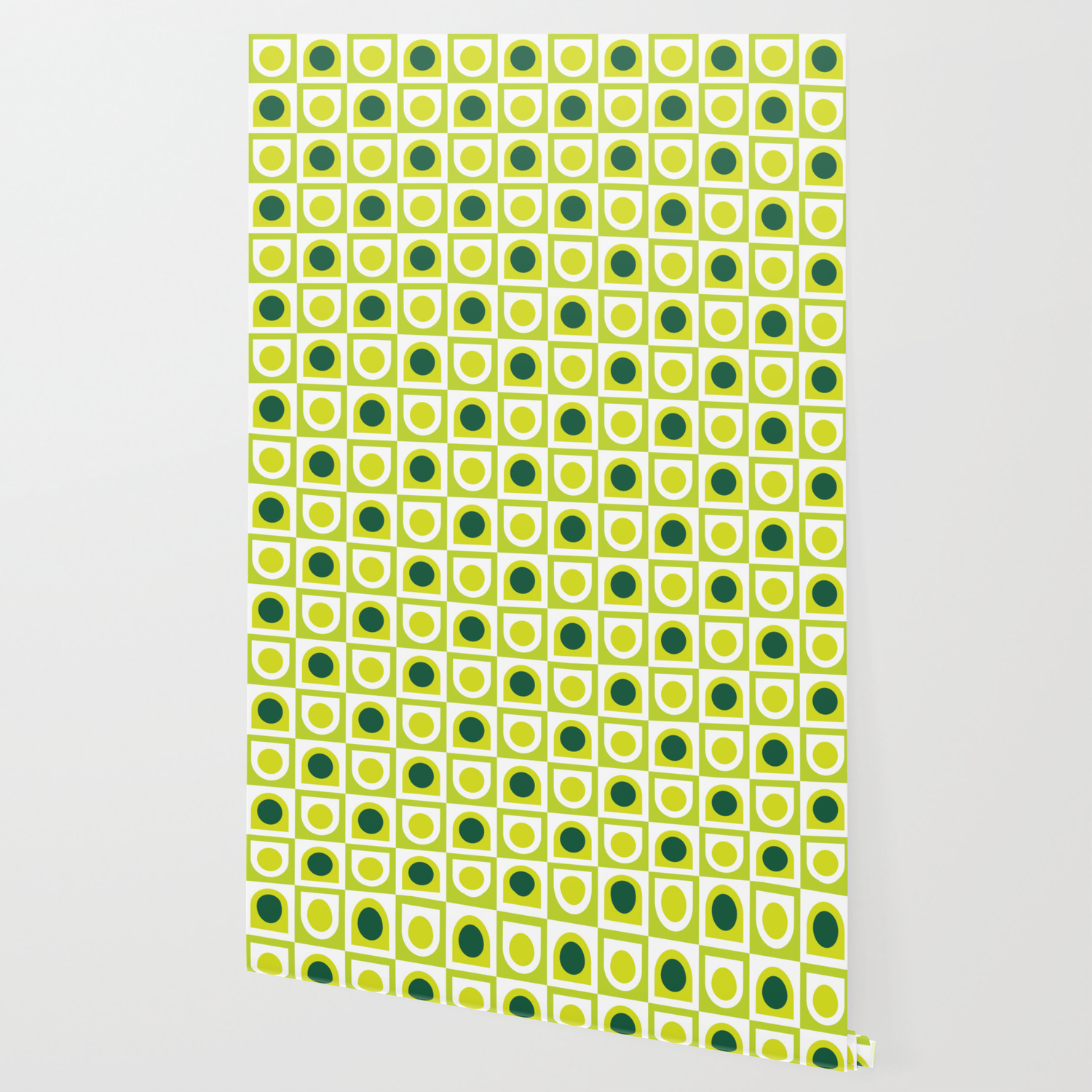 Geometric Pattern 210 Lime Green Wallpaper