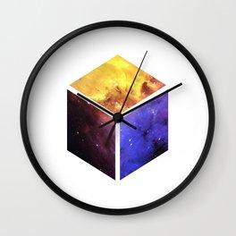 Nebula Cube - White Wall Clock