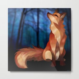 Wild At Heart Fox Metal Print