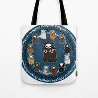thorin Tote Bags featuring Dwarpacas(Thorin) by Lady Cibia
