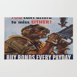 Vintage poster - War Bonds Rug