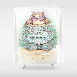 Ancient cats Shower Curtain