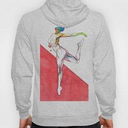 Paradigm flux, nude female dancer, NYC artist Hoody