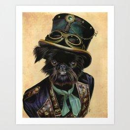 Sir Cornelius Kirby (steampunk) Art Print
