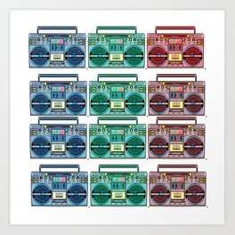 """I CAN'T LIVE WITHOUT MY RADIO"" Art Print"