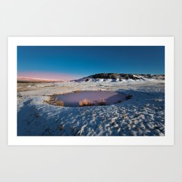 In the bleak mid Winter Art Print