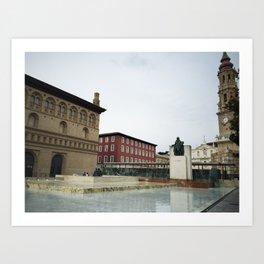 Pilares de Zaragoza Art Print