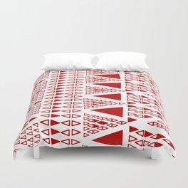 Zig Zag Pattern -  brick red Duvet Cover