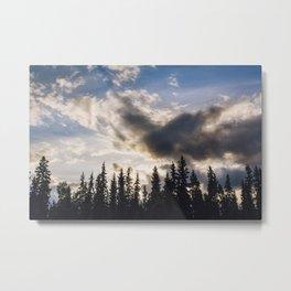 Cloudy Sundown Metal Print