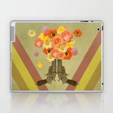 In my world, flowers come out of guns Laptop & iPad Skin