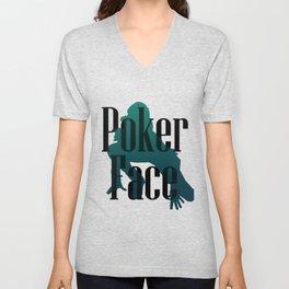 Poker Face Unisex V-Neck