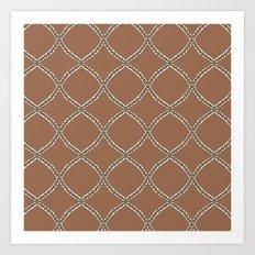 Geometric shapes and lines Art Print