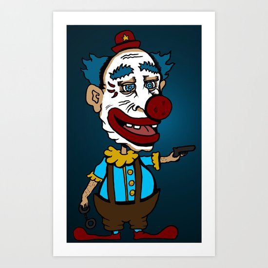 Arm the Clowns, Protect our Children and Gun Sales Art Print