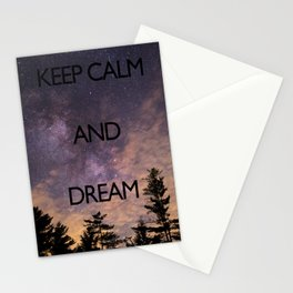 KEEP CALM and dream Stationery Cards