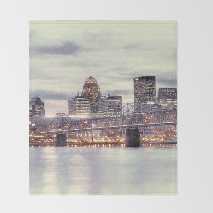 Louisville Kentucky Throw Blanket