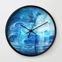 BETWEEN THE PLANES IN TIME TRAVEL Wall Clock
