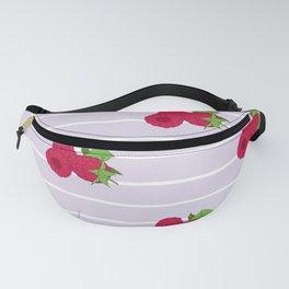 Raspberry Stripe Fanny Pack