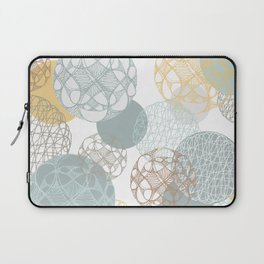 Floating Circles Laptop Sleeve