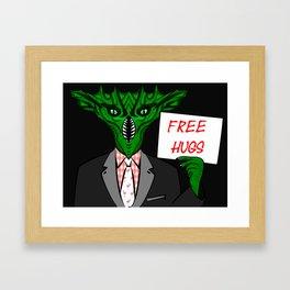 Sea Monster Hugs Framed Art Print