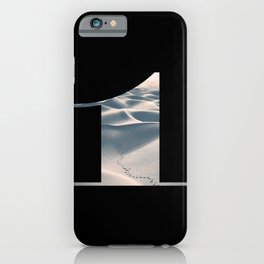 Nr. 1 | Numbers with a View | Typography Letter Art iPhone Case