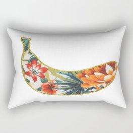 Floral Glitter Banana Rectangular Pillow