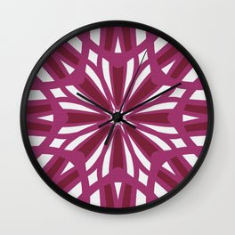 Rosy Wildflower Villa Garden Pattern Wall Clock