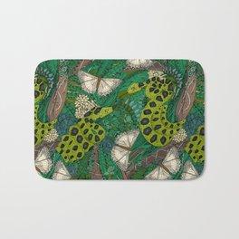 entangled forest green Bath Mat