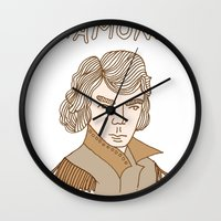 neil gaiman Wall Clocks featuring A Neil Diamond is Forever by T-Shirt Business