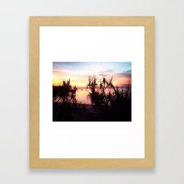 Sunset over Jetty Framed Art Print