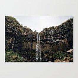 Waterfall XVI / Iceland Canvas Print
