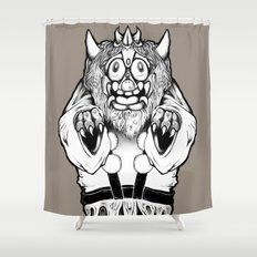 Oni Mask Shower Curtain